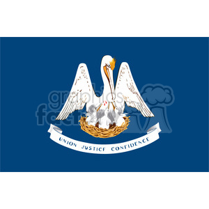 vector state Flag of Louisiana clipart. Commercial use image # 384597