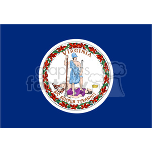 vector state Flag of Virginia clipart. Royalty-free image # 384607