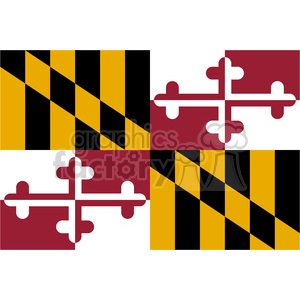 vector-state-Flag-of-Maryland clipart. Commercial use image # 384612