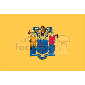 vector state Flag of New Jersey clipart. Royalty-free image # 384617