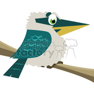 cartoon Kookaburra bird clipart. Royalty-free image # 384622