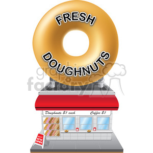 retro doughnut shop clipart. Royalty-free image # 384637