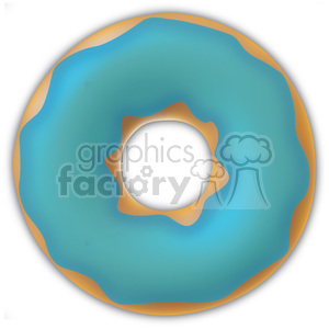 blue glazed vector doughnut clipart. Commercial use image # 384642