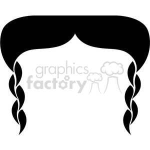 vector RG cartoon mustache mustaches hair male vinyl-ready black white