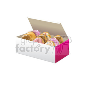 box of vector doughnuts clipart. Royalty-free image # 384662