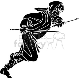 ninja clipart 032 clipart. Royalty-free image # 384702