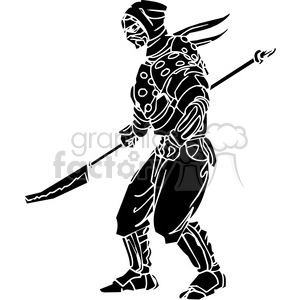 ninja clipart 030 clipart. Royalty-free image # 384712