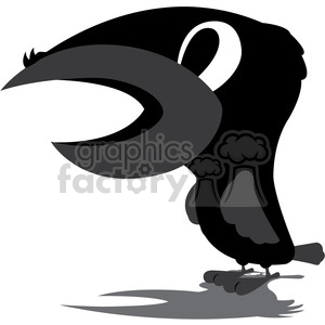 raven cartoon character clipart. Royalty-free image # 384820