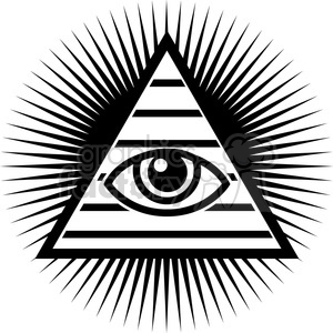 pyramid with eye in the middle clipart. Commercial use image # 384870