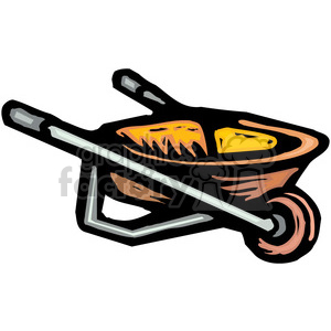 yellow wheelbarrow clipart. Commercial use image # 384932