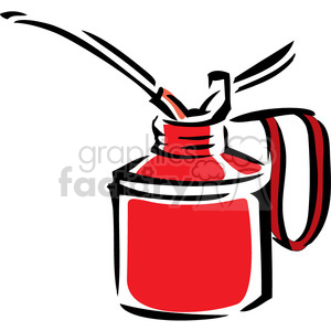 red oil can clipart. Royalty-free image # 384952