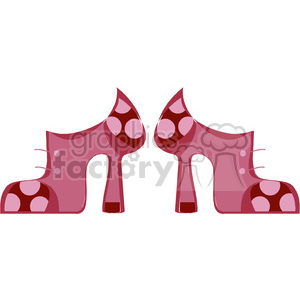 pink high heel boots clipart. Commercial use image # 138213