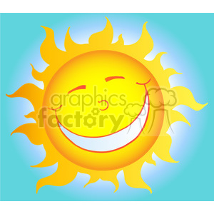 129012 RF Clipart Illustration Happy Smiling Sun Cartoon Character clipart. Royalty-free image # 385142