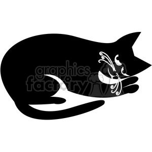 vector clip art illustration of black cat 054 clipart. Royalty-free image # 385382