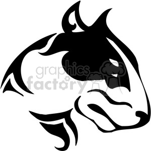vector black+white animals wild outline vinyl-ready pitbull tattoo bull+terrier