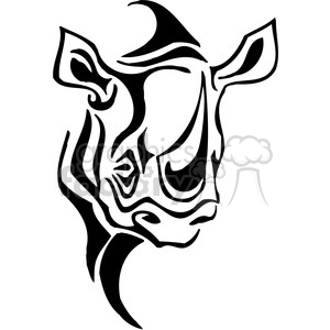 wild rhino 059 clipart. Royalty-free image # 385432