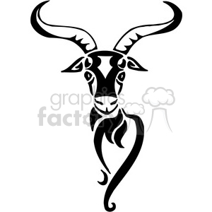 vector black+white animals wild outline vinyl-ready gazelle tattoo