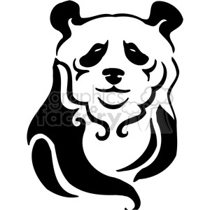 wild panda clipart 066 clipart. Royalty-free image # 385472