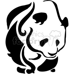 wild panda art 052 clipart. Commercial use image # 385492