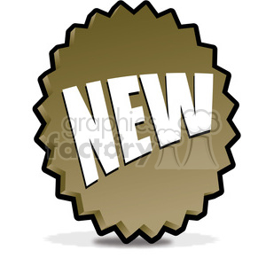 NEW-icon-image-vector-art-brown 001 clipart. Royalty-free image # 385522