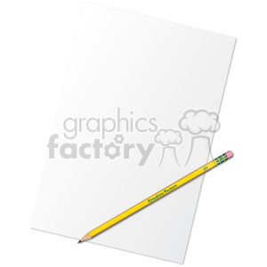 pencil and paper clipart. Royalty-free image # 385532