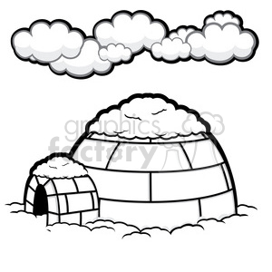 vector igloo 007 clipart. Commercial use image # 385542
