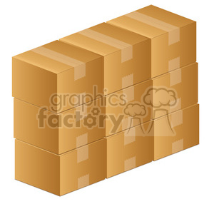 moving boxes clipart. Royalty-free image # 385572