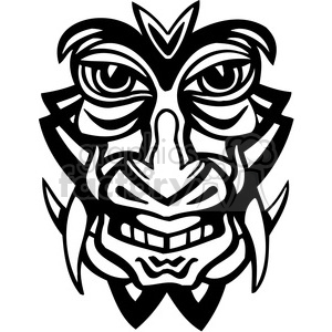 ancient tiki face masks clip art 042 clipart. Royalty-free image # 385811