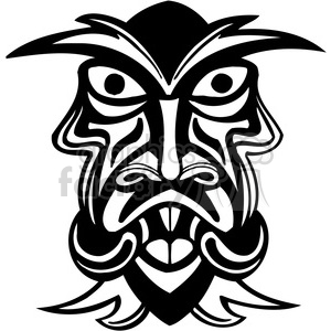 ancient tiki face masks clip art 018 clipart. Royalty-free image # 385819
