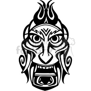 ancient tiki face masks clip art 033 clipart. Royalty-free image # 385828