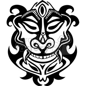 ancient tiki face masks clip art 011 clipart. Royalty-free image # 385837