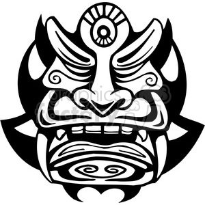 ancient tiki face masks clip art 034 clipart. Royalty-free image # 385846