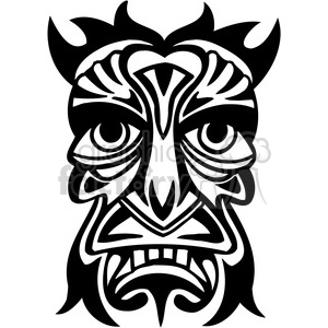 ancient tiki face masks clip art 026 clipart. Royalty-free image # 385856