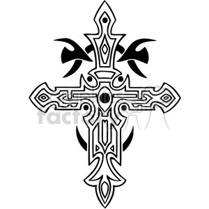 cross clip art tattoo illustrations 002 clipart. Royalty-free image # 385873