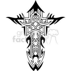 cross clip art tattoo illustrations 029 clipart. Commercial use image # 385883
