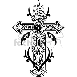 cross clip art tattoo illustrations 011 clipart. Royalty-free image # 385893