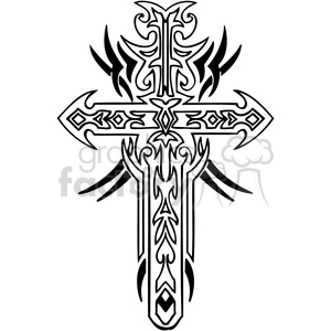 cross clip art tattoo illustrations 010 clipart. Royalty-free image # 385903