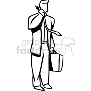 business man on the phone clipart. Commercial use image # 159482