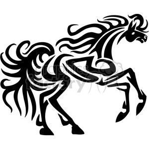 tribal tattoo horse design clipart. Royalty-free image # 385945