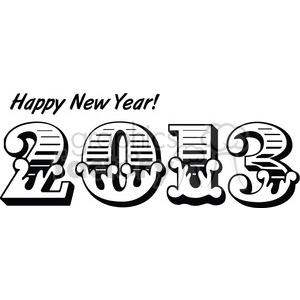 2013 Happy New Years 005 clipart. Commercial use image # 385975
