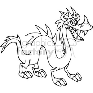funny cartoon dragons 028 clipart. Royalty-free image # 385997
