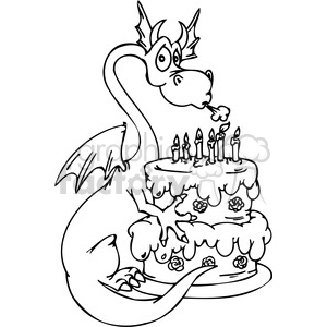 funny cartoon dragons 008 clipart. Royalty-free image # 386007