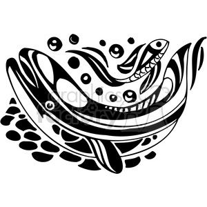 fish black+white tattoo design illustration whale whales ocean eco underwater