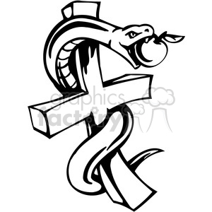 christian religion serpent on cross 083 clipart. Royalty-free image # 386027