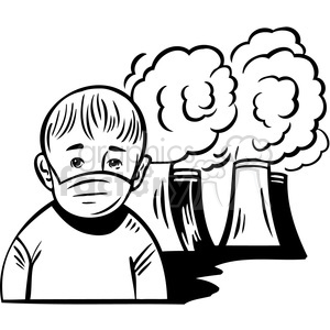 air pollution is making humans sick clipart. Royalty-free image # 386077
