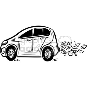 eco friendly car equals sustainability clipart. Commercial use image # 386087