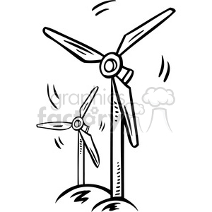 eco environment illustration logo symbols elements earth black+white windmill energy sustainable