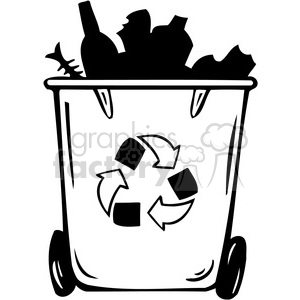eco recycling cans clipart. Commercial use image # 386147