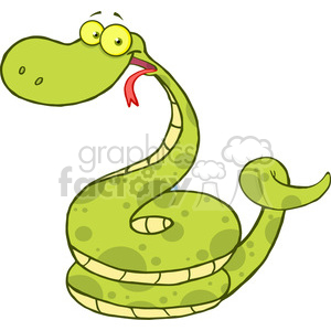 5146-Happy-Snake-Cartoon-Character-Royalty-Free-RF-Clipart-Image clipart. Commercial use image # 386196