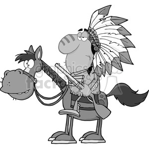 5130-Indian-Chief-With-Gun-On-Horse-Royalty-Free-RF-Clipart-Image clipart. Royalty-free image # 386316